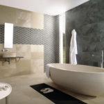 Black and Brown Bathroom Tile