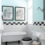 Black and White Bathroom Border Wall Tiles