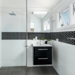 Black Hexagon Tiles Bathroom