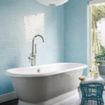Blue Glass Subway Tile