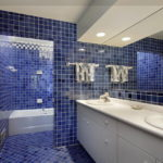 Deep Blue Tiles with Pristine White Grout