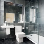 Gray Modern Small Bathroom Designs