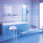 Modern Blue Color Tile Wall and Floor