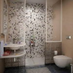 Ocean Pebble Tile Shower
