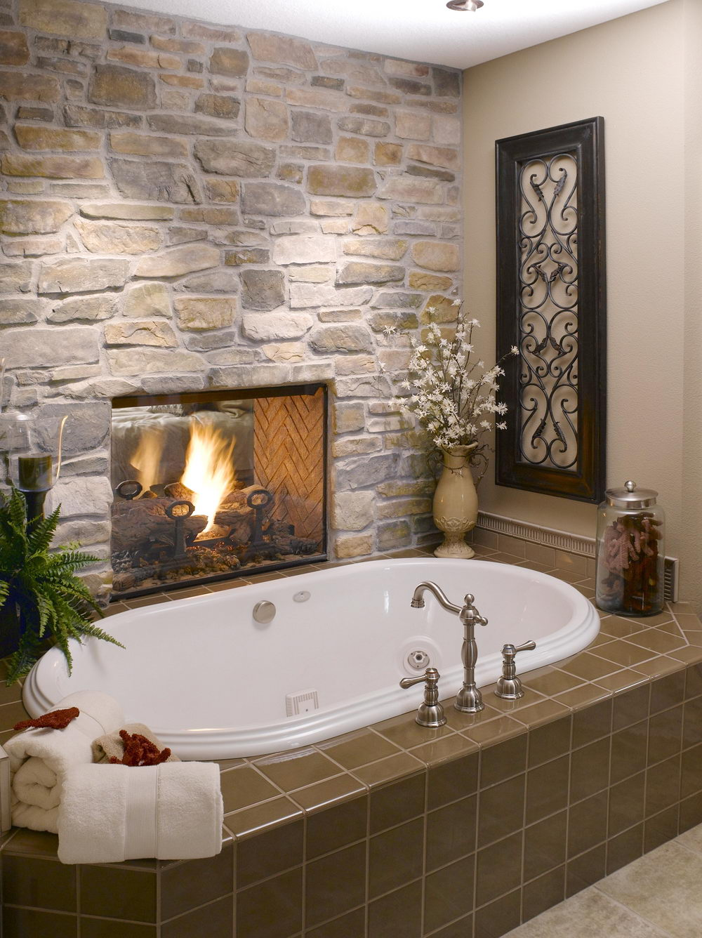 Rustic Stone Bathroom Designs. Natural Stones Are Charming And Beautiful In  Their Own Way Look