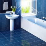 Vintage Blue Bathroom Tiles
