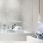 White Ceramic Tiling for Bathrooms