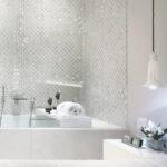 White Ceramic Tiling for Bathrooms