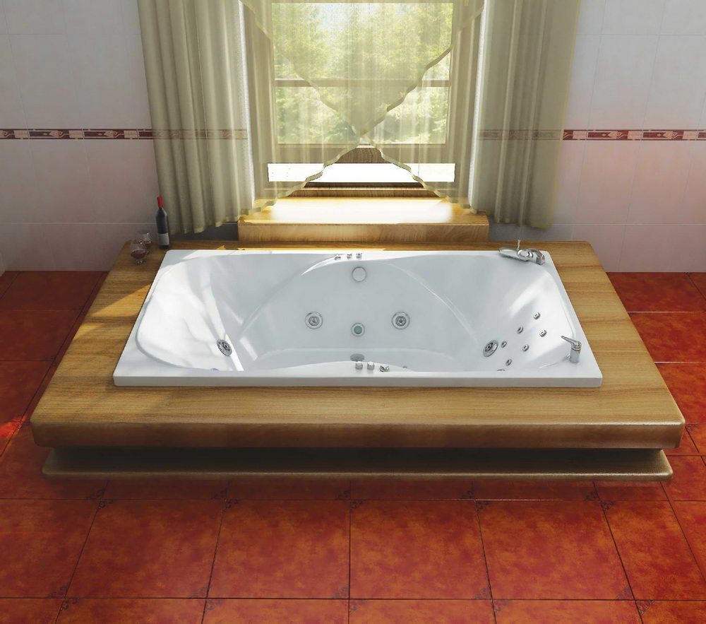 Acrylic Jetted Drop in Bathtub - Relaxing Bathing in Oversized ...