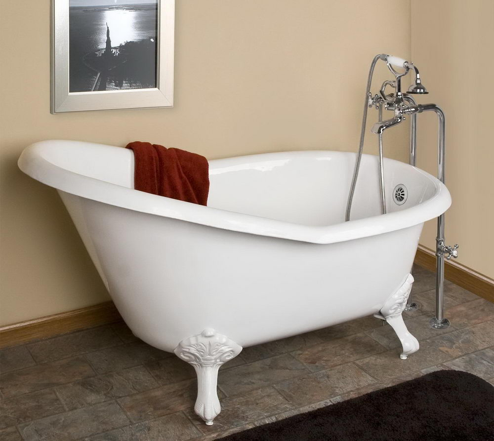 Bathtubs with claw feet tips for buying acrylic clawfoot for Best acrylic bathtubs
