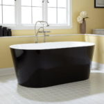 Black Freestanding Acrylic Tub