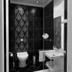 Cool Black Tiles in Bathroom Ideas