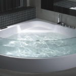 Corner Bath with Glass