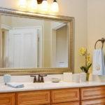 Elegant Gold Framed Wall Mirror