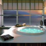 Large Round Bathtub by System Pool