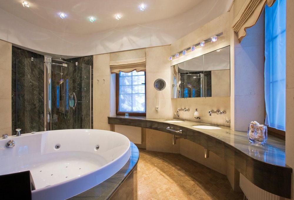 Luxury Bathroom Large Jacuzzi - Relaxing Bathing in Oversized ...