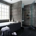 Modern Black Tile Ceramic