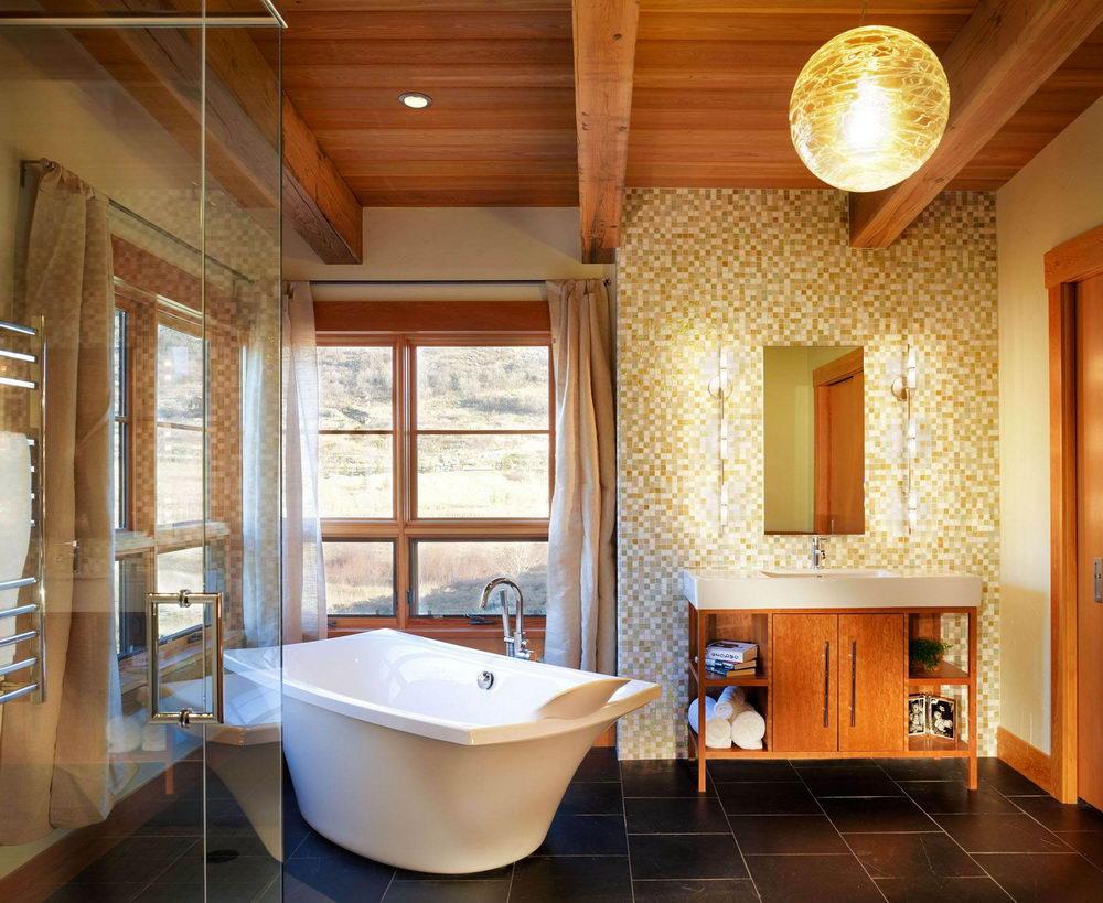 Modern White Ceramic Bathtub