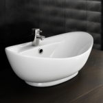 Oval Counter Top Basin with Mono Basin Mixer Large