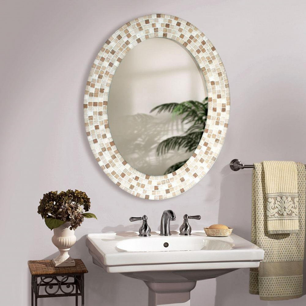 Oval Mirrors for Bathrooms freestanding electric fireplace sma ...