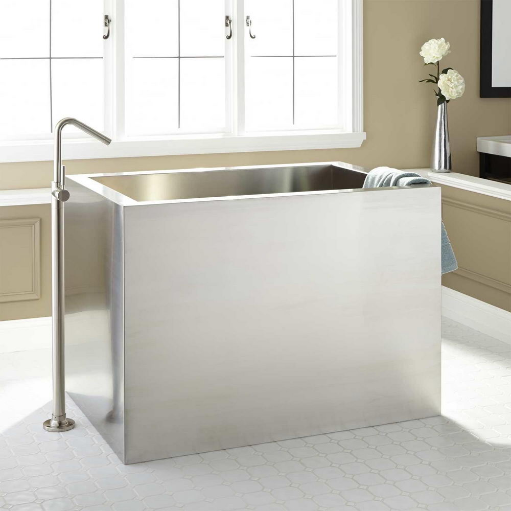 Rectangular Brushed Stainless Steel Tub - Top Ideas for Installing ...