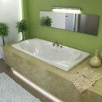 Rectangular Soaking Drop in Bathtub