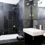 Small Black Bathroom