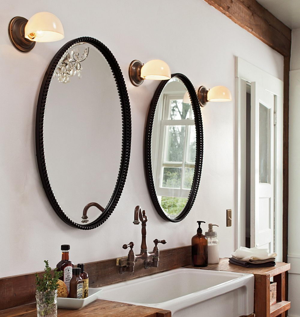 Decorative Bathroom Mirrors For A Thrilling Experience U2014 Two Mirrors One  Sink Bathroom