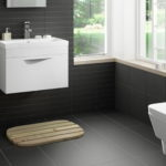 Ultra Modern Bathroom with Black Tiles