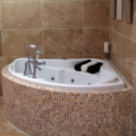 Ultra Small Corner Bathtub Design