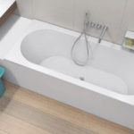 Unclad Undermount Oval Base Bathtub