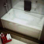 Whirlpool Bathtub with Right Hand Drain