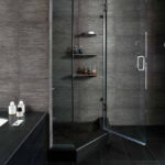 Small Bathroom Remodels In Black Theme