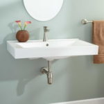 Awesome White Ceramic Wall Mounted Sink