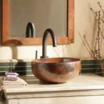 Copper Vessel Sink Bathroom