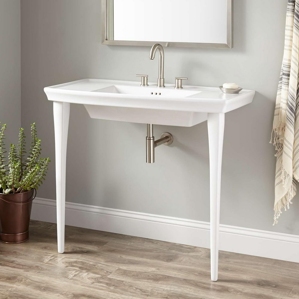 Porcelain Console Sink White
