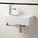 Small Rectangular Wall Mounted Bathroom Sink
