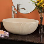 Tall Bowl Sandstone Vessel Sink