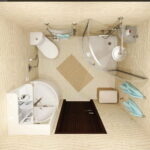 Bathroom Installation with Corner Toilet