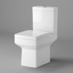 Close Coupled Toilet Square Pan Soft Closing Seat