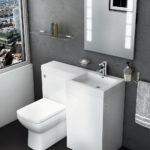 Compact Sink and Toilet Vanity Unit