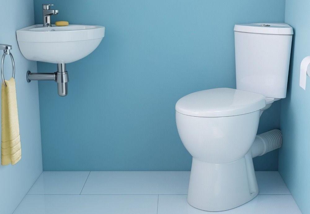 Corner Close Couple Toilet