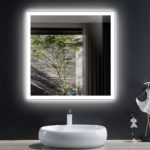 Elegant Backlit Bathroom Mirror