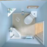 Round Bowl Corner Bathroom Toilet