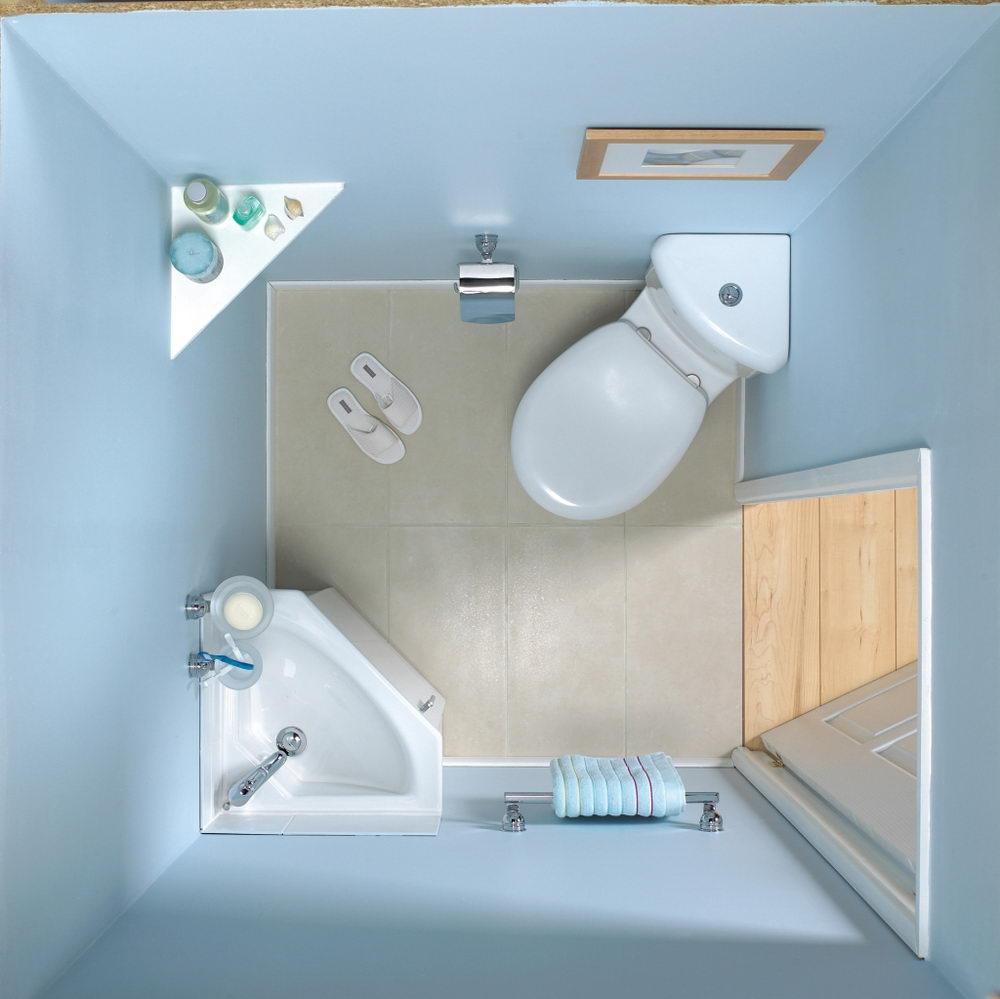 Round Bowl Corner Bathroom Toilet