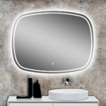 Rounded Mirror with Backlight