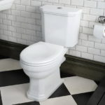White Ceramic Close Coupled Toilet