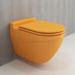 Yellow Wall Hung Toilet