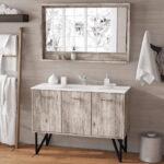 Awesome Wood Single Country Bathroom Vanity