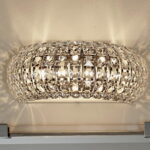 Bathroom Wall Crystal Light Fixture